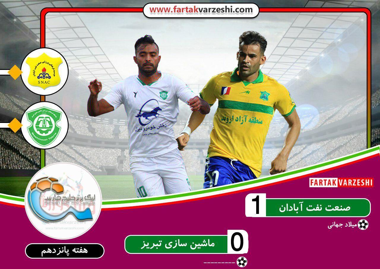 لیگ برتر فوتبال  پیروزی لحظه آخری صنعت نفت مقابل ماشینسازی