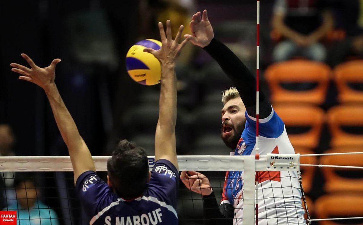 پیروزی ملی پوشان والیبال ایران مقابل صربستان