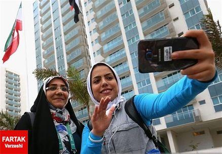 سلفی بانوی ملیپوش تیراندازی ایران در دهکده المپیک + تصاویر