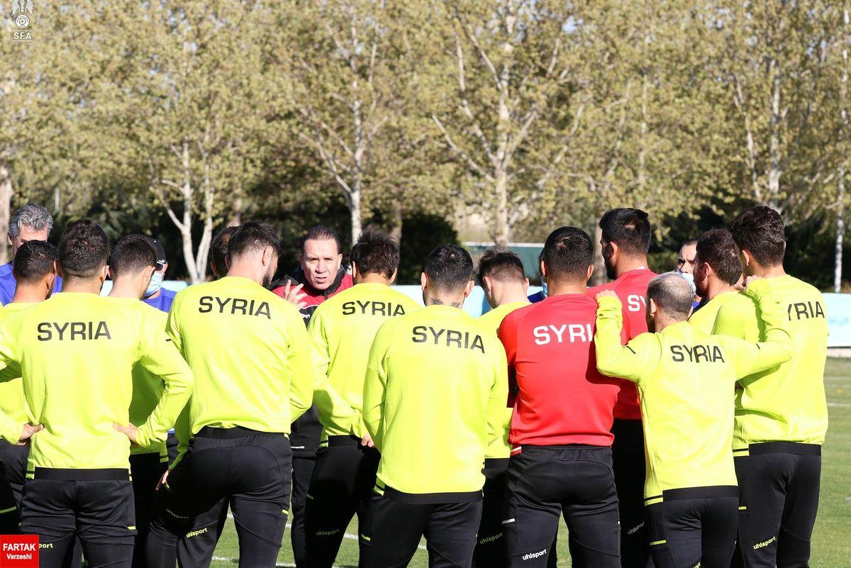 تیم ملی فوتبال سوریه برای دیدار با ایران استارت زد+عکس