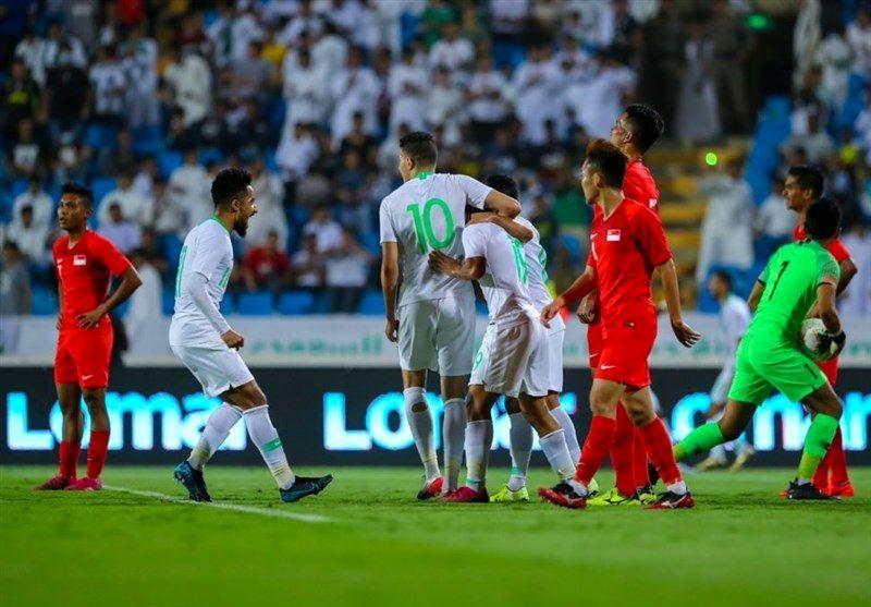 پیروزی عربستان مقابل سنگاپور