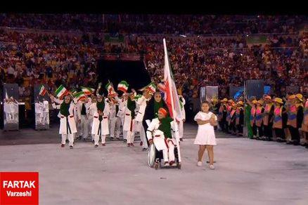 گزارش تصویری/ رژه فرزندان ایران با پرچم داری شیرزن پارسی