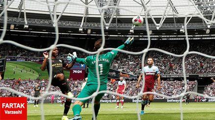 وستهام 0 منچسترسیتی 5/برد پر گل مدافع عنوان قهرمانی در لندن