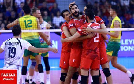 برتری قاطع والیبال ایران مقابل پرتوریکو